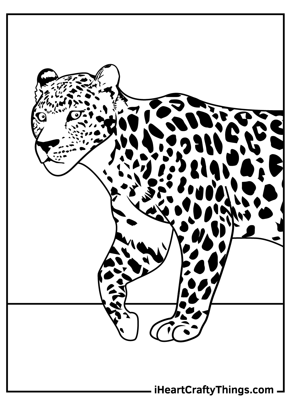 free printable leopard coloring pages