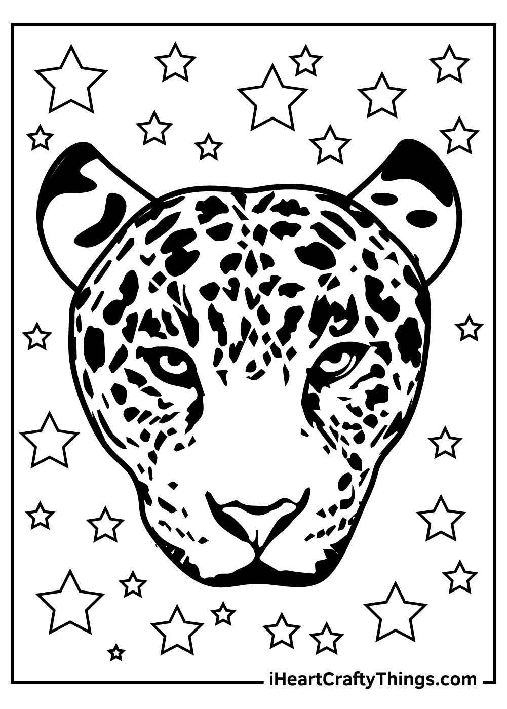 adult free printable leopard coloring pages