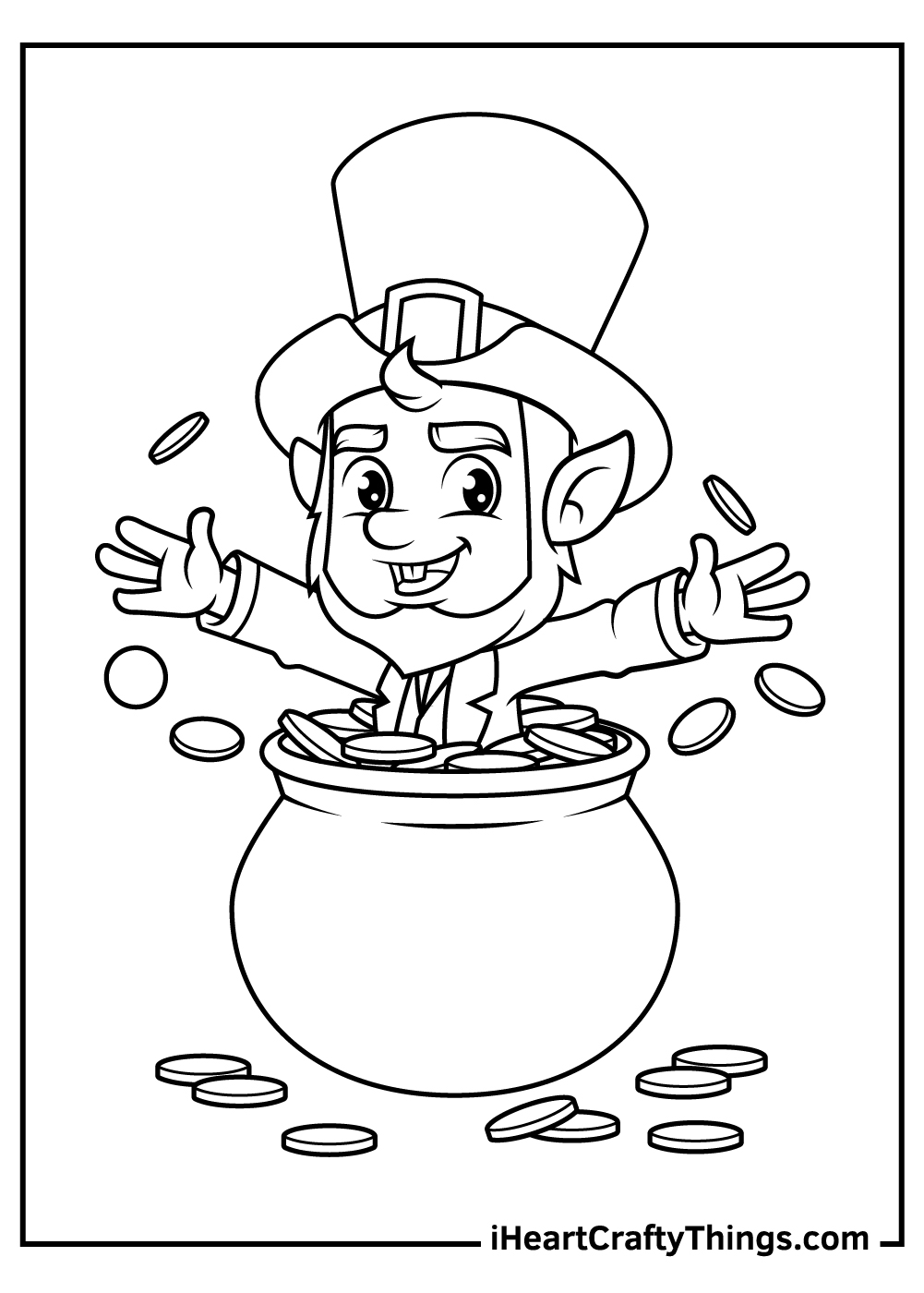 st patrick's day leprechaun coloring pages