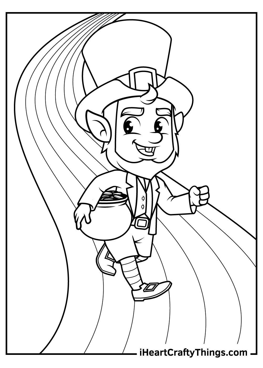 leprechaun coloring pages for kids