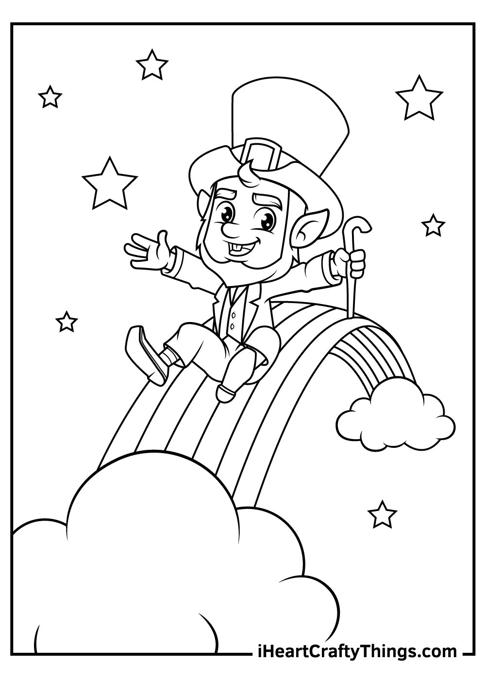free leprechaun coloring pages download