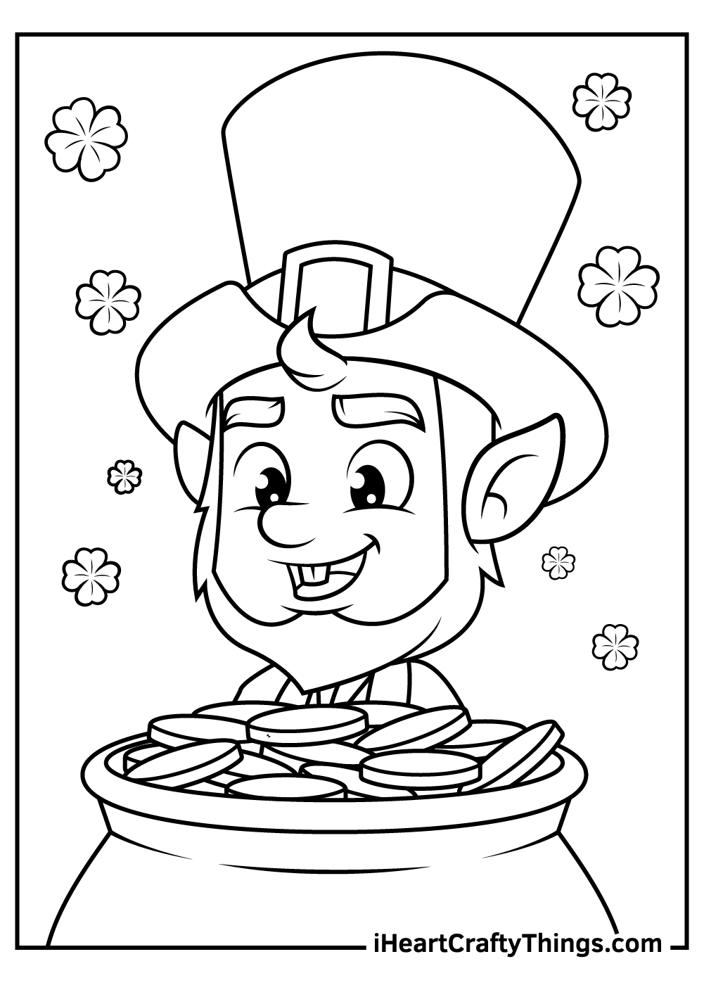 cute leprechaun coloring pages to print