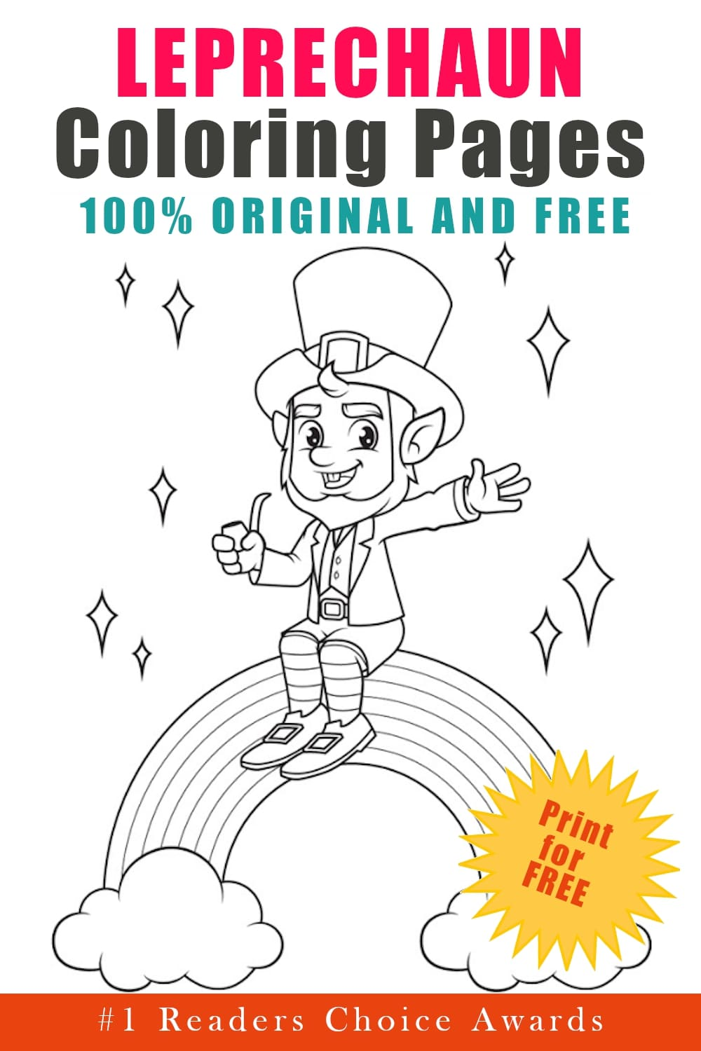 original and free leprechaun coloring pages