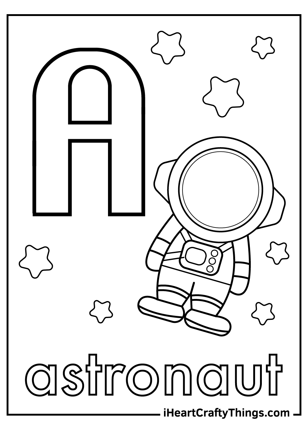letter a coloring pages free download