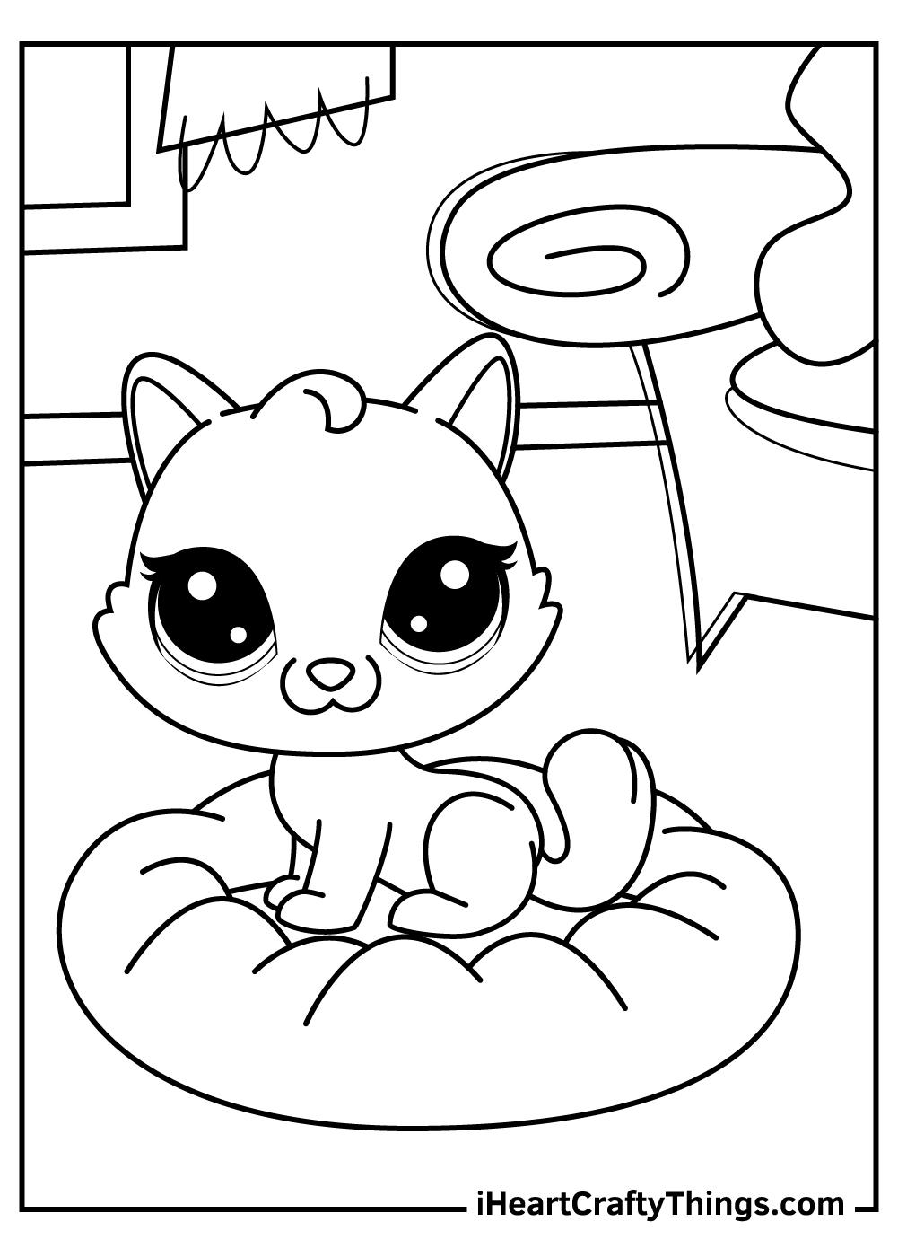 sweet kitten littlest pet shop coloring pages