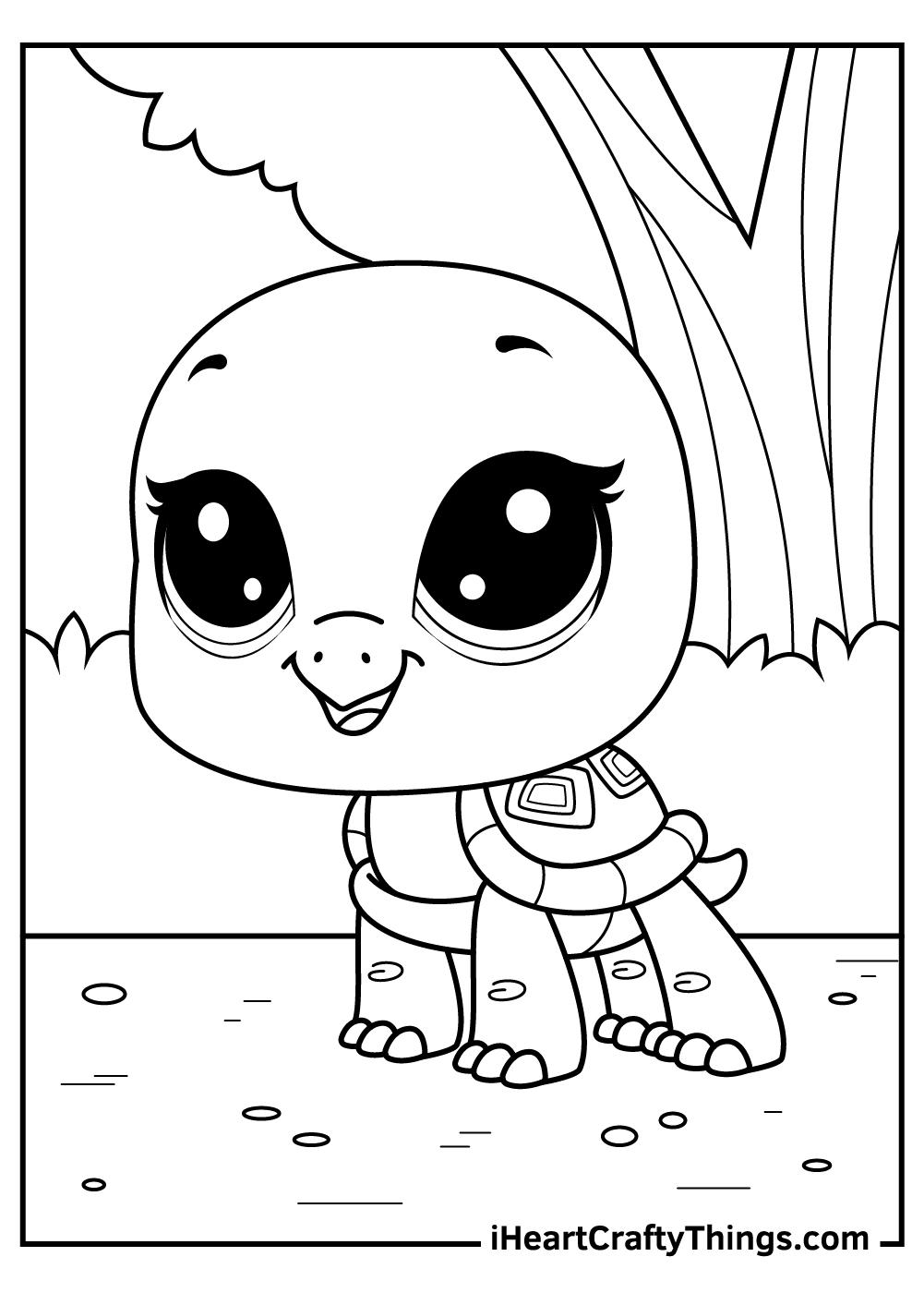 bev the turtle littlest pet shop coloring pages