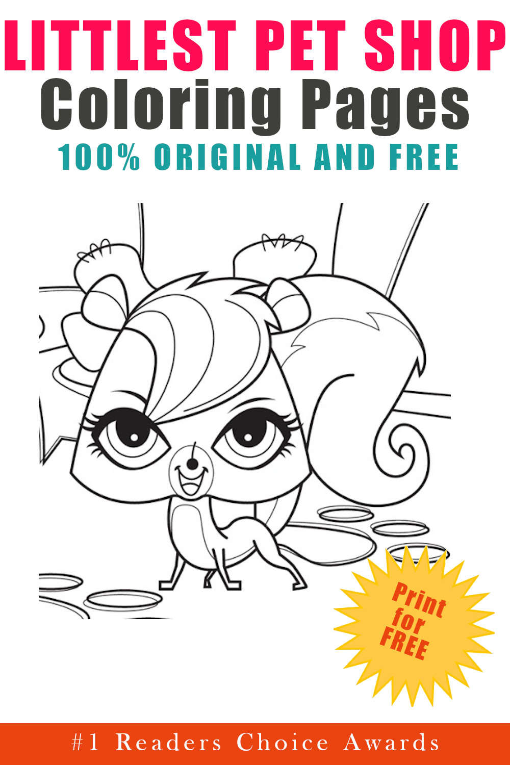 original and free littles pet shop coloring pages