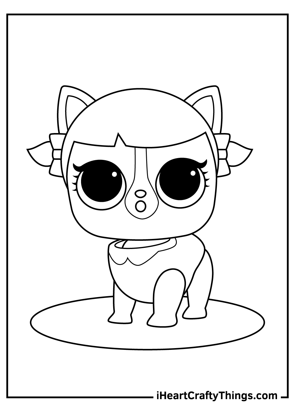 lol surprise pets black and white coloring pages