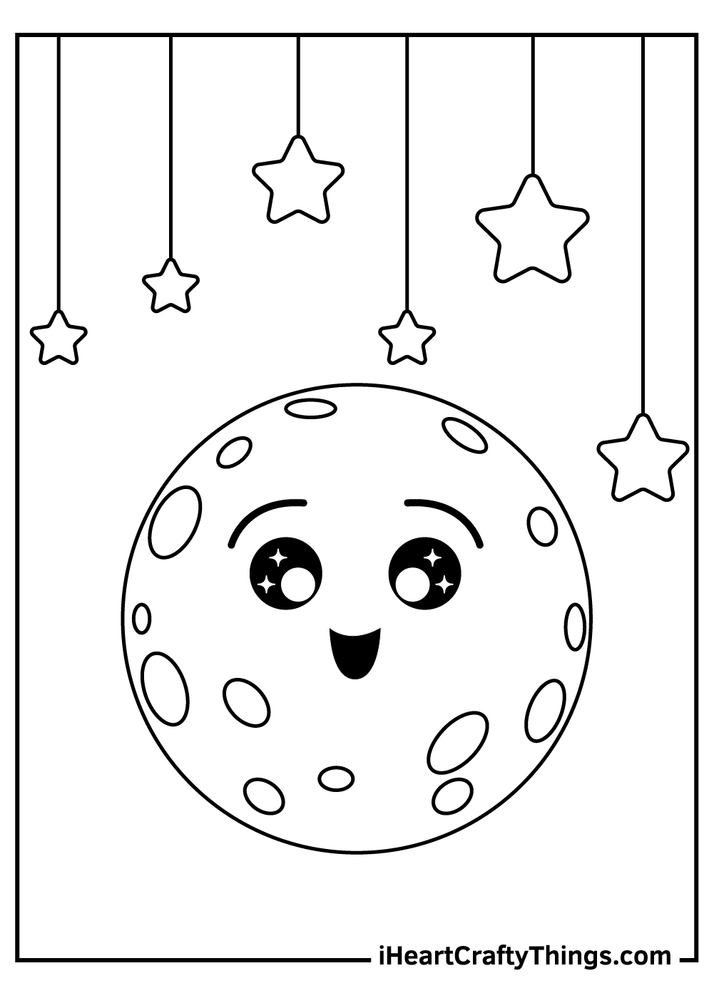 cute moon coloring pages free printable