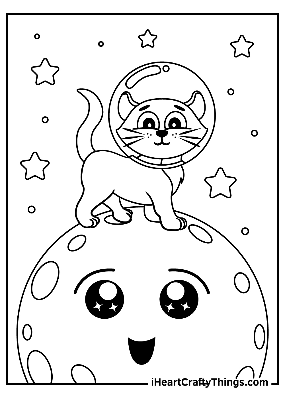 can on a moon coloring pages