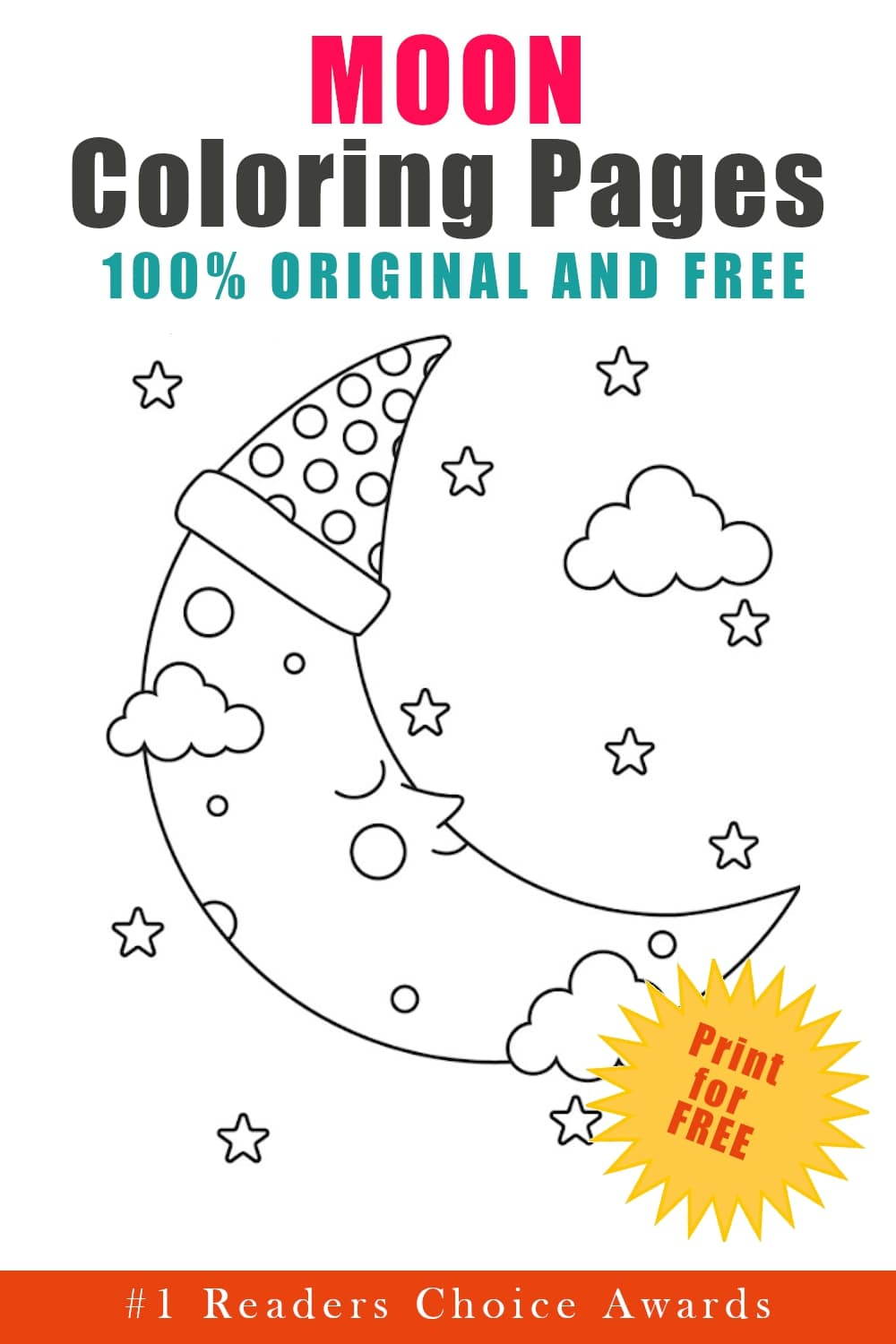 original and free moon coloring pages