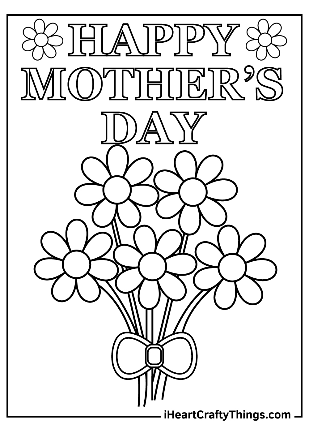 mother's day free coloring pages