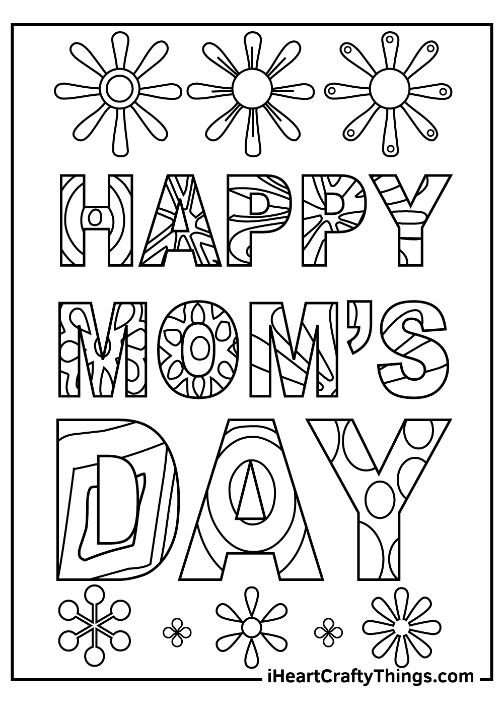 happy mom's day coloring sheets pdf
