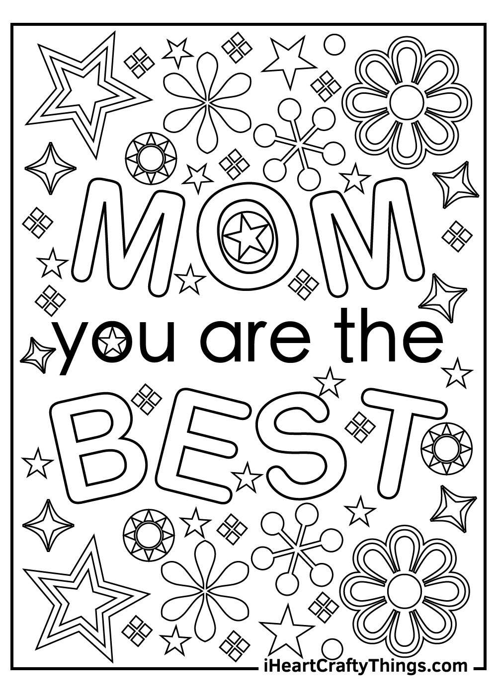 mom you are the best coloring pages free pdf