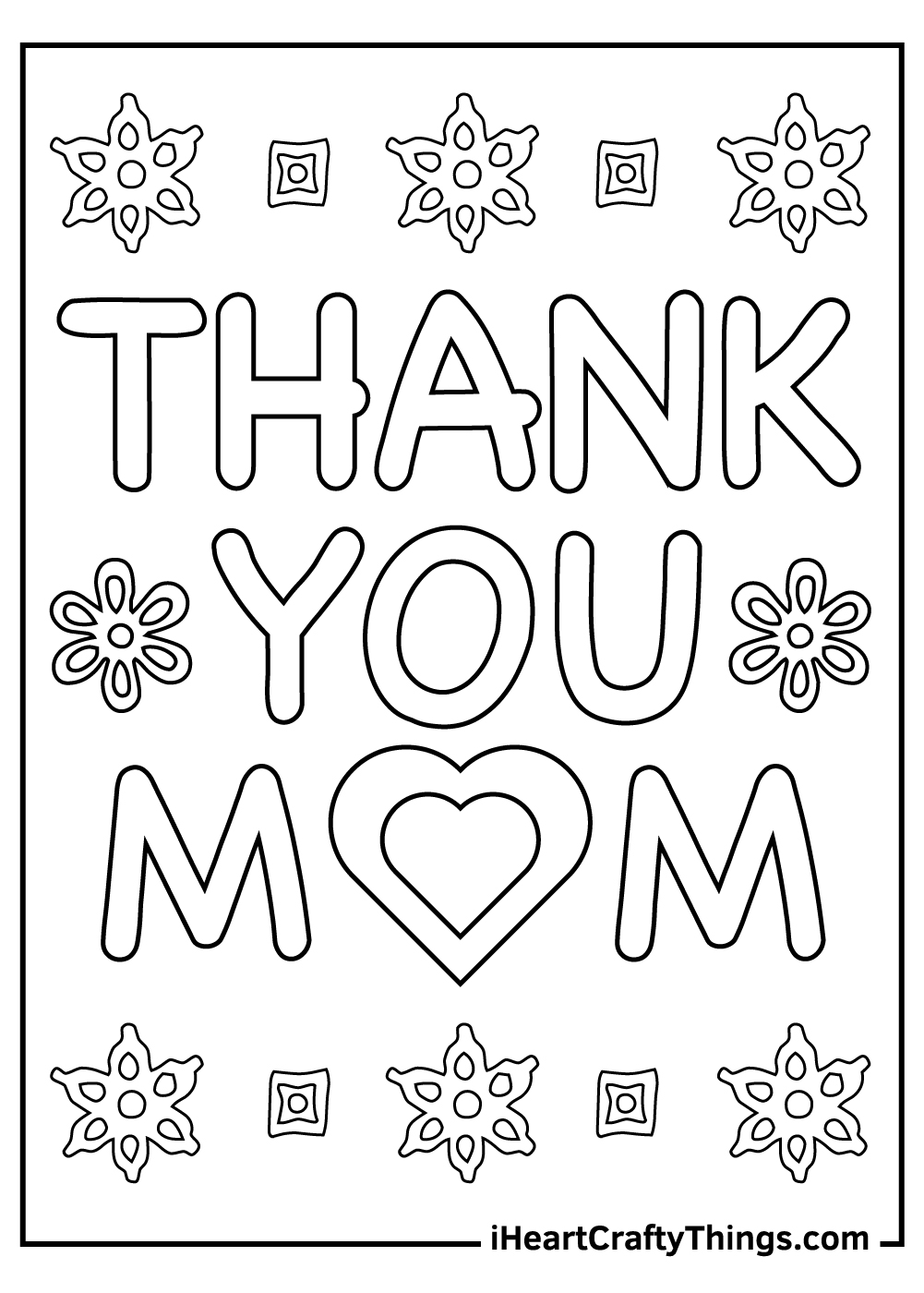 thank you mom coloring pages printable