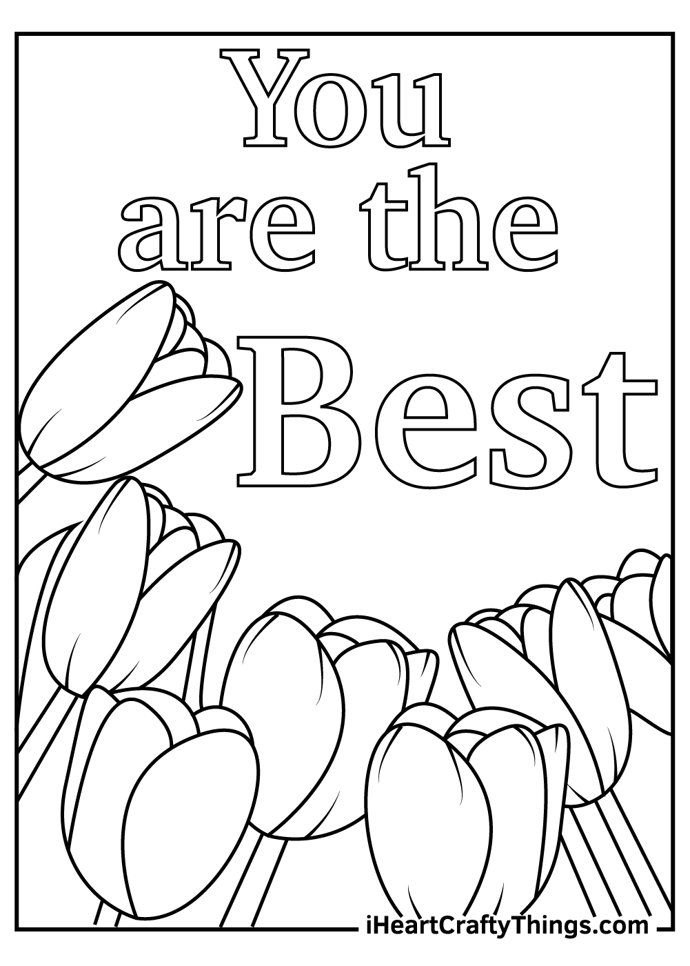 you are the best mom coloring pages