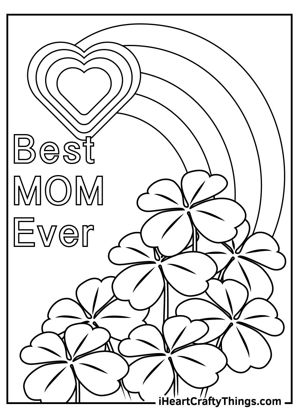 best mom ever free printable coloring pages
