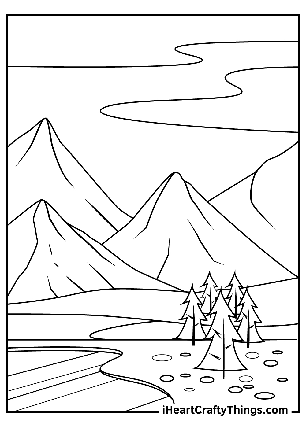 mountain coloring pages for adults