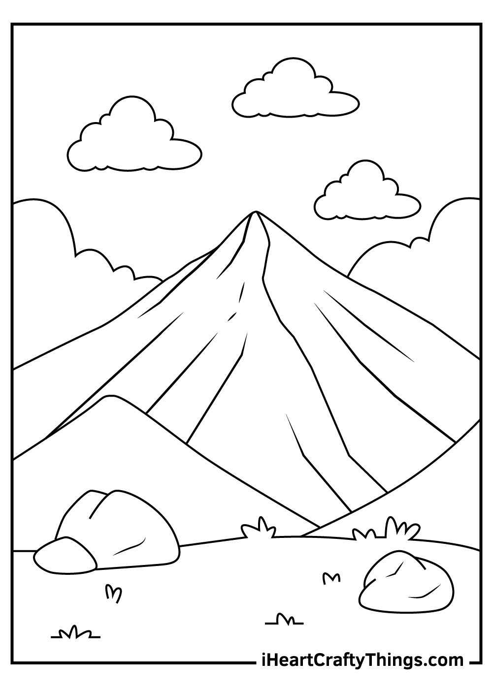 mountain coloring pages free printable
