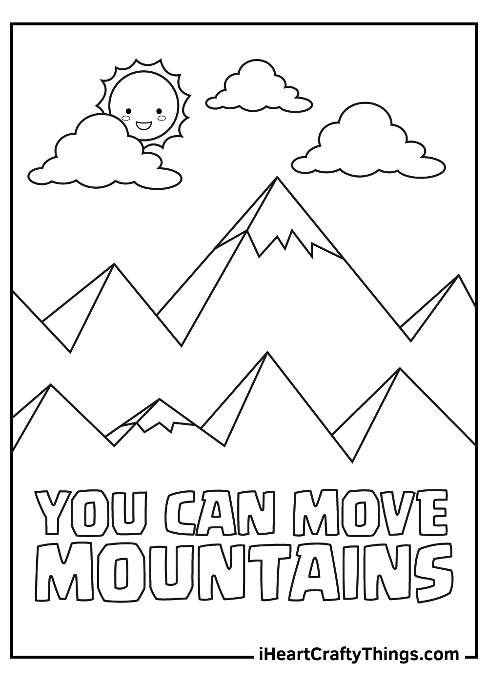 cartoon mountain coloring pages free download