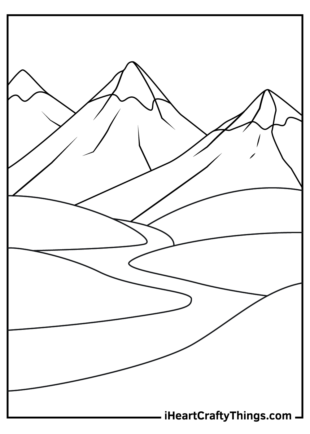 rocky mountain coloring pages