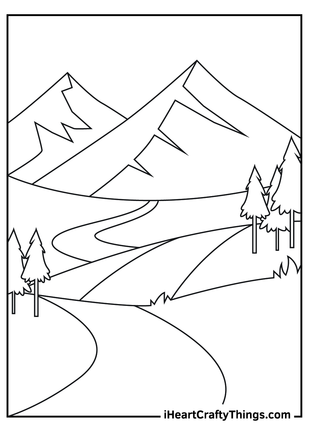 kids mountains coloring pages