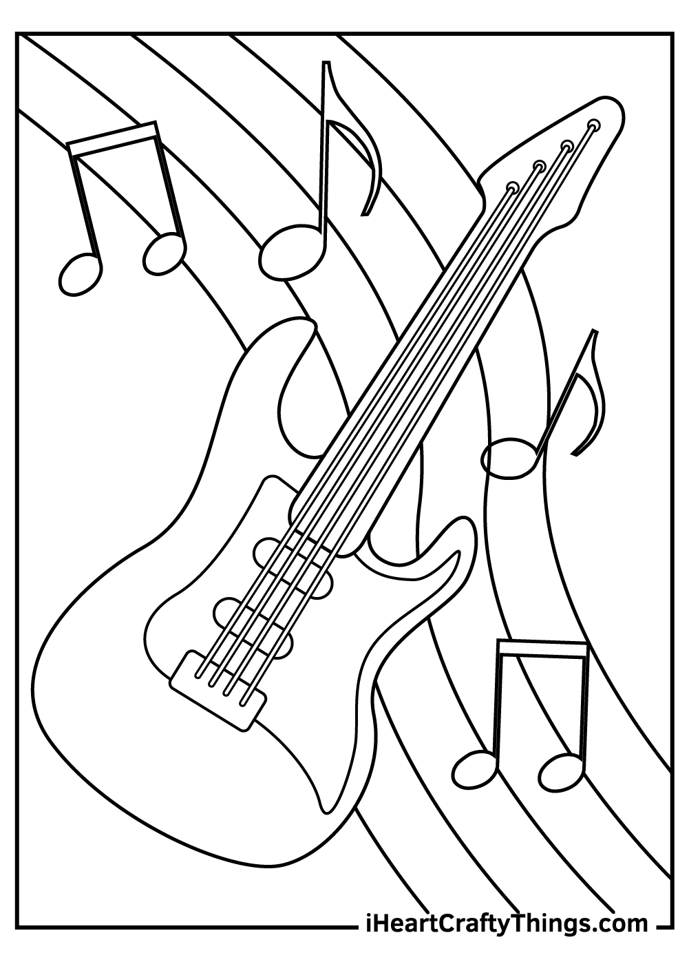 guitar coloring pages free download