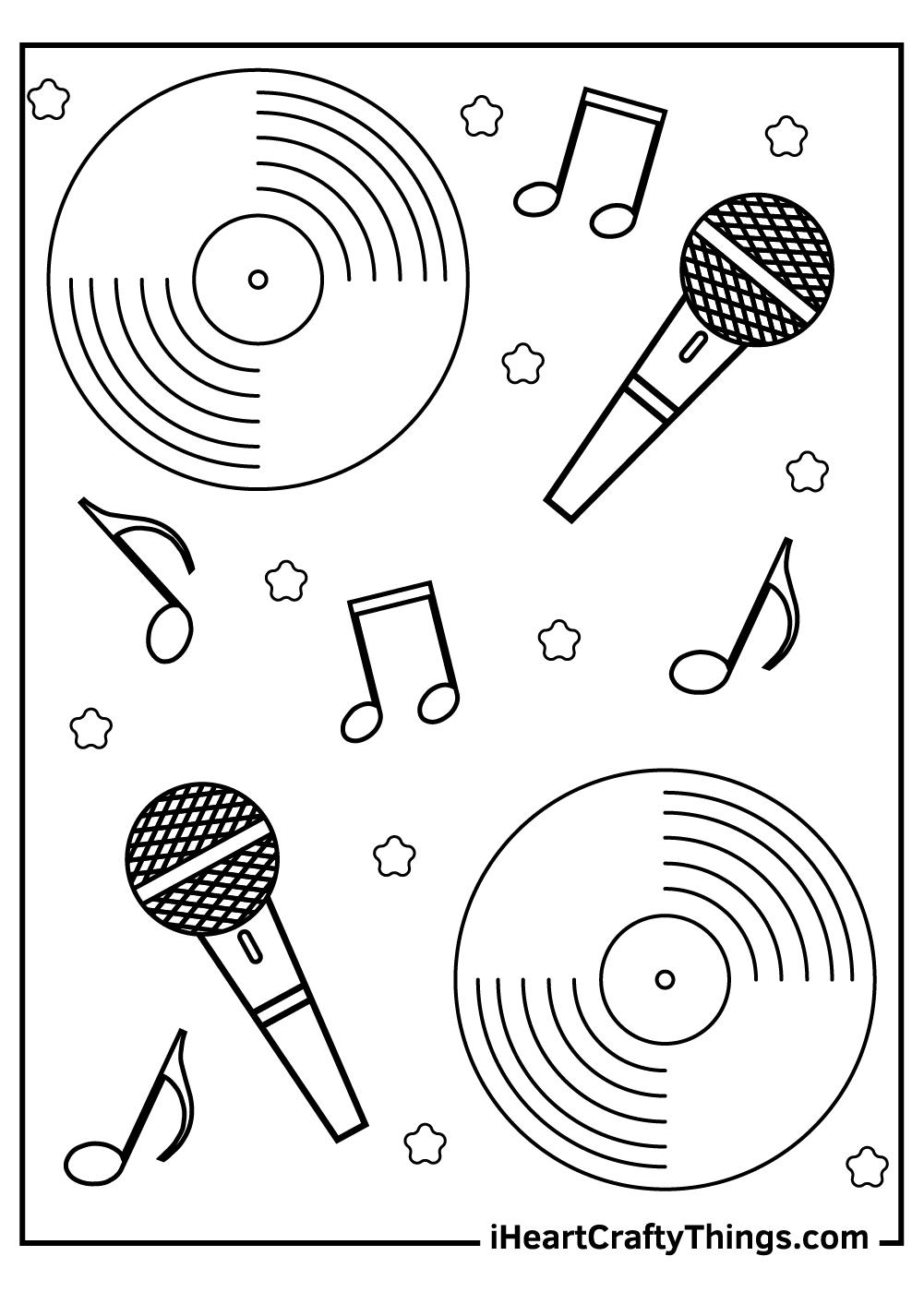 original music coloring pages free printable