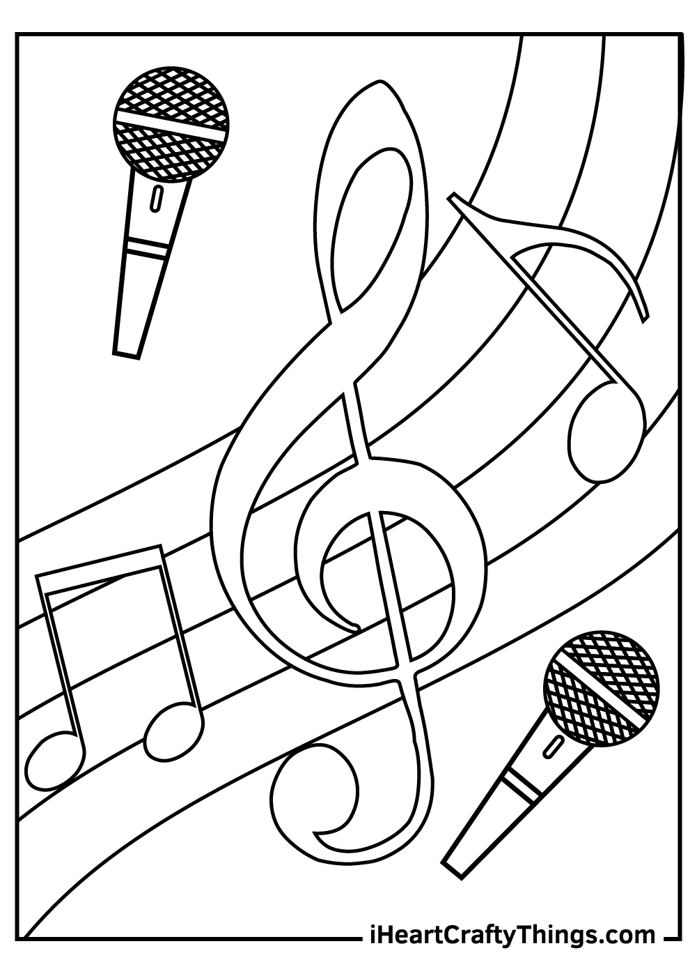 clef music coloring pages free printable