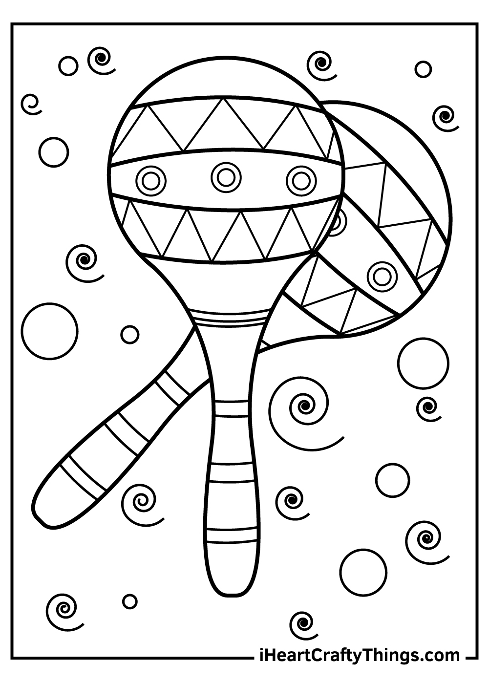 maracas music coloring pages free printable