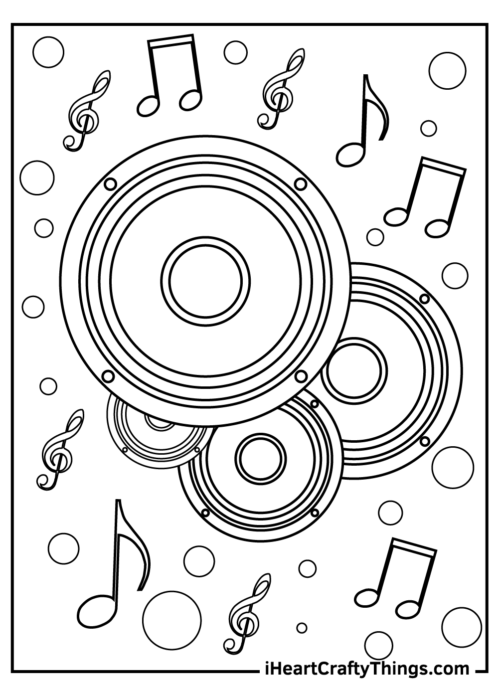 speakers music coloring pages free printable