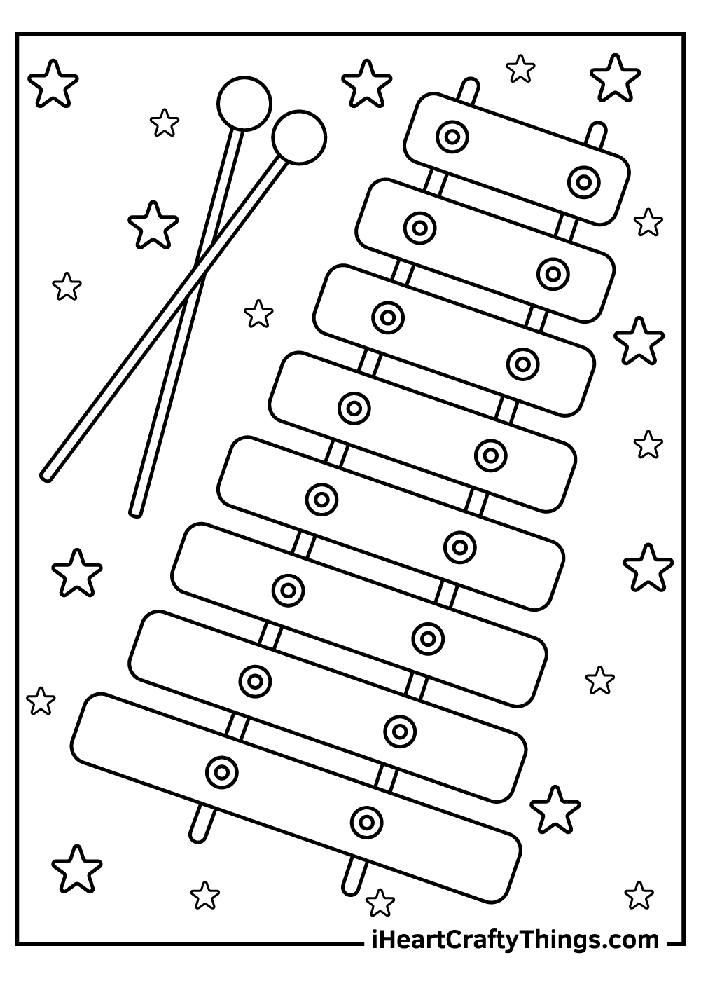 xylophone music coloring pages free download