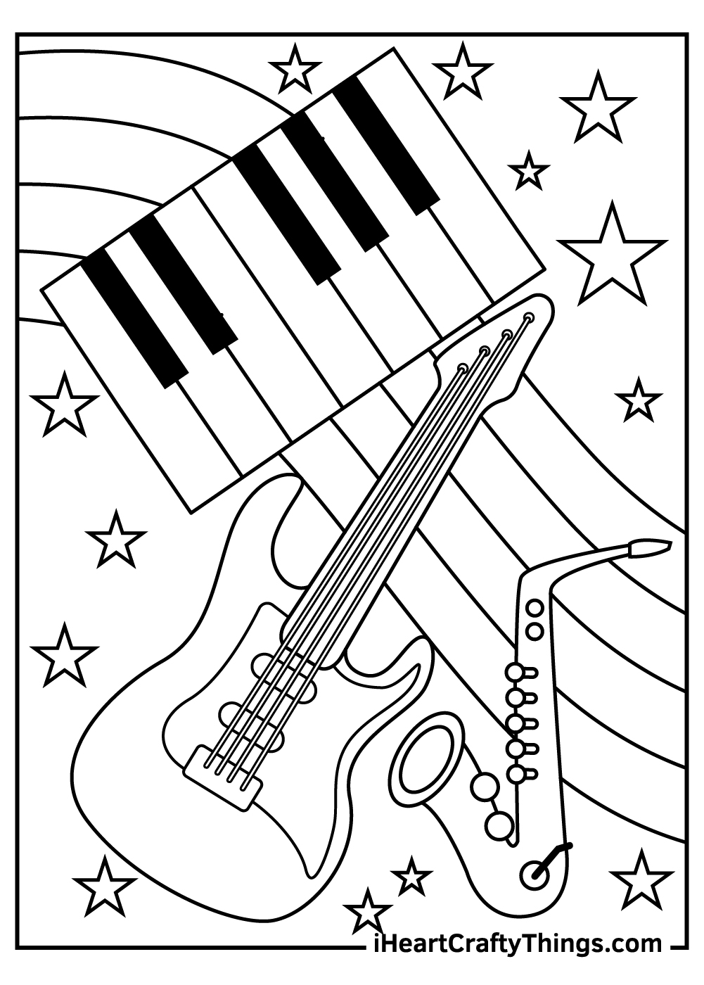 music coloring pages for kindergarten fee download