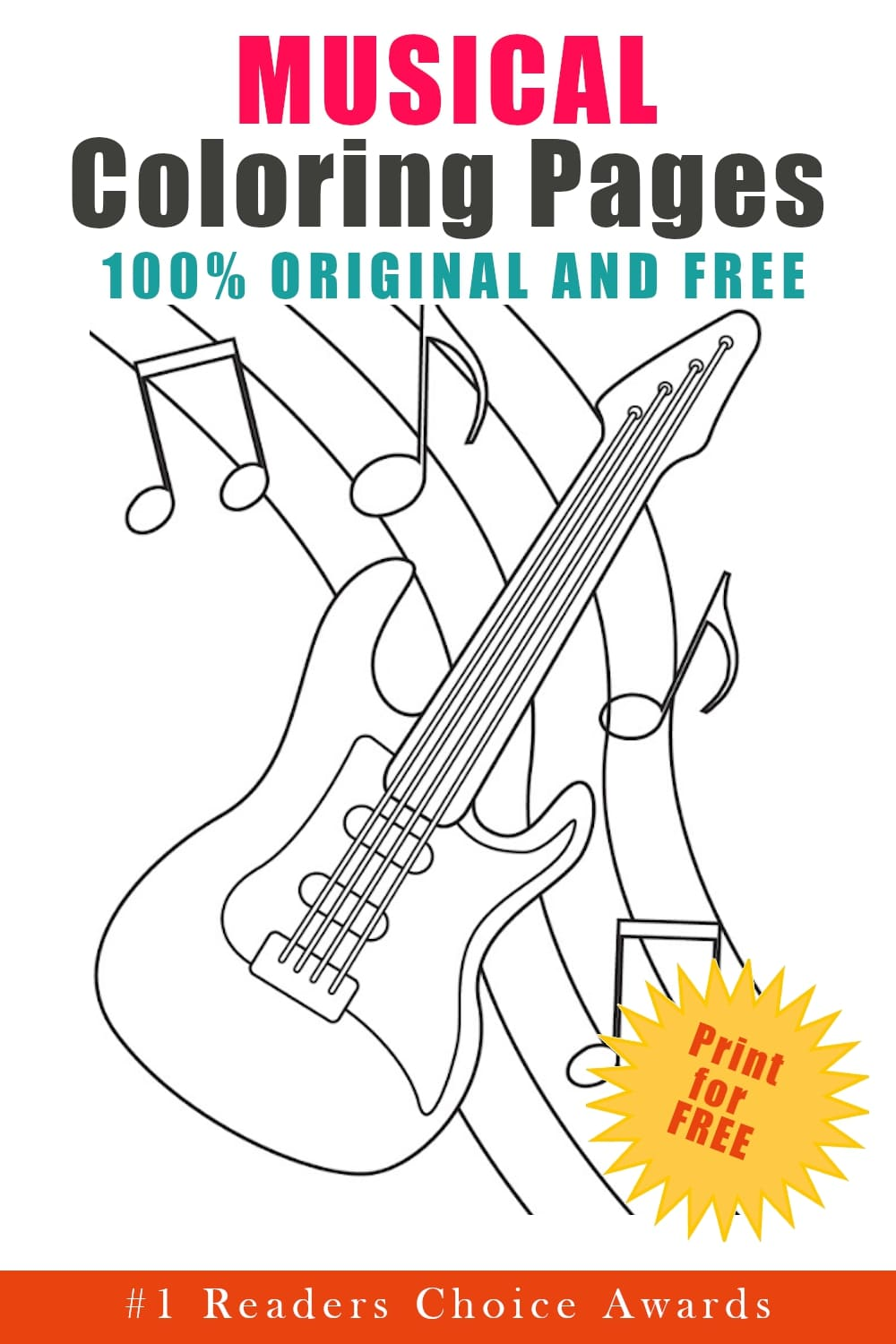 original and free music coloring pages