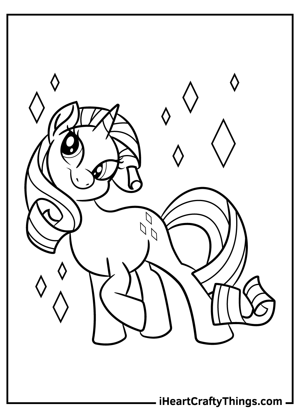 rarity free my little pony coloring pages