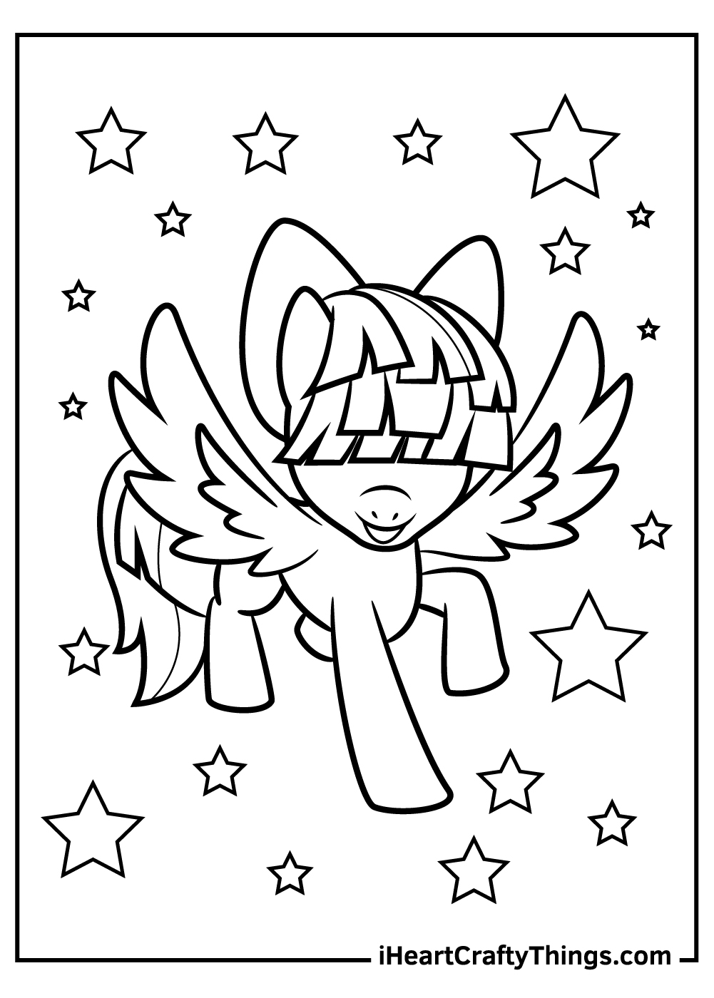 free my little pony coloring pages Twilight Sparkle