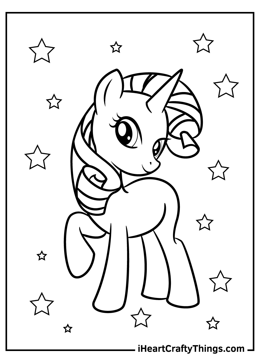 free my little pony coloring pages Rarity