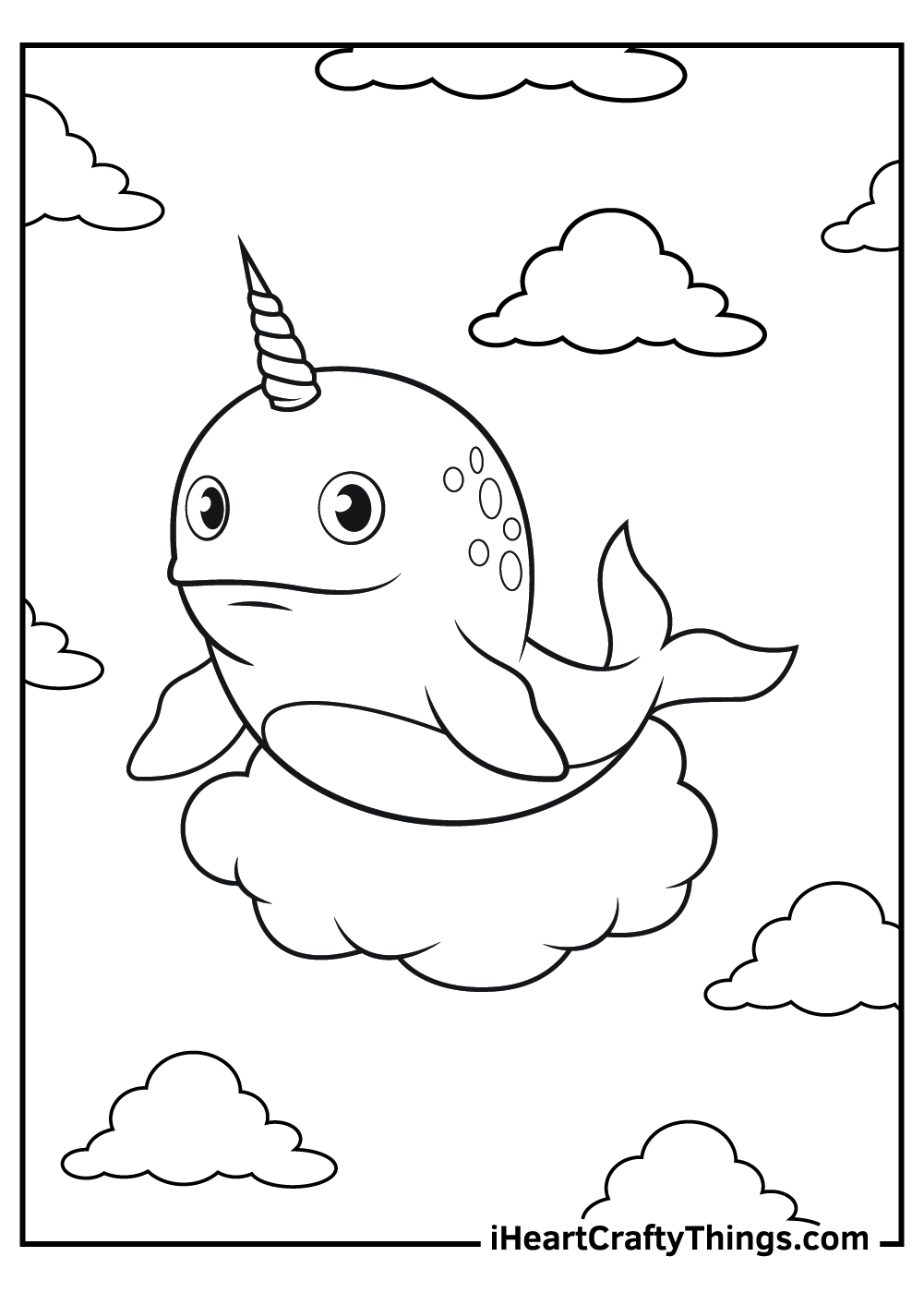 how to draw a unicorn narwhal coloring pages