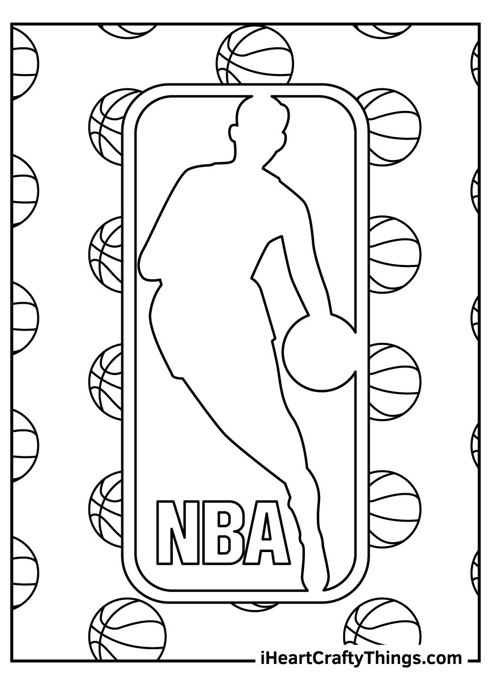 NBA coloring pages logo free printable
