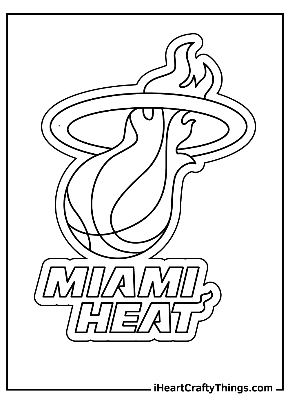 miami heat NBA coloring pages free download