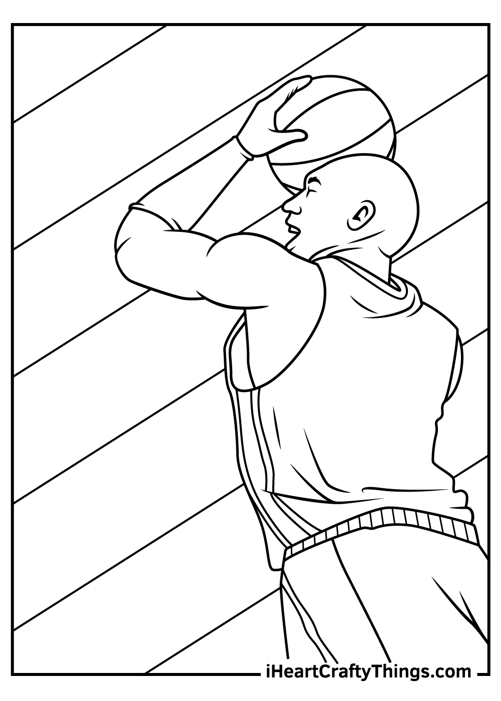 NBA coloring pages famous players free printable