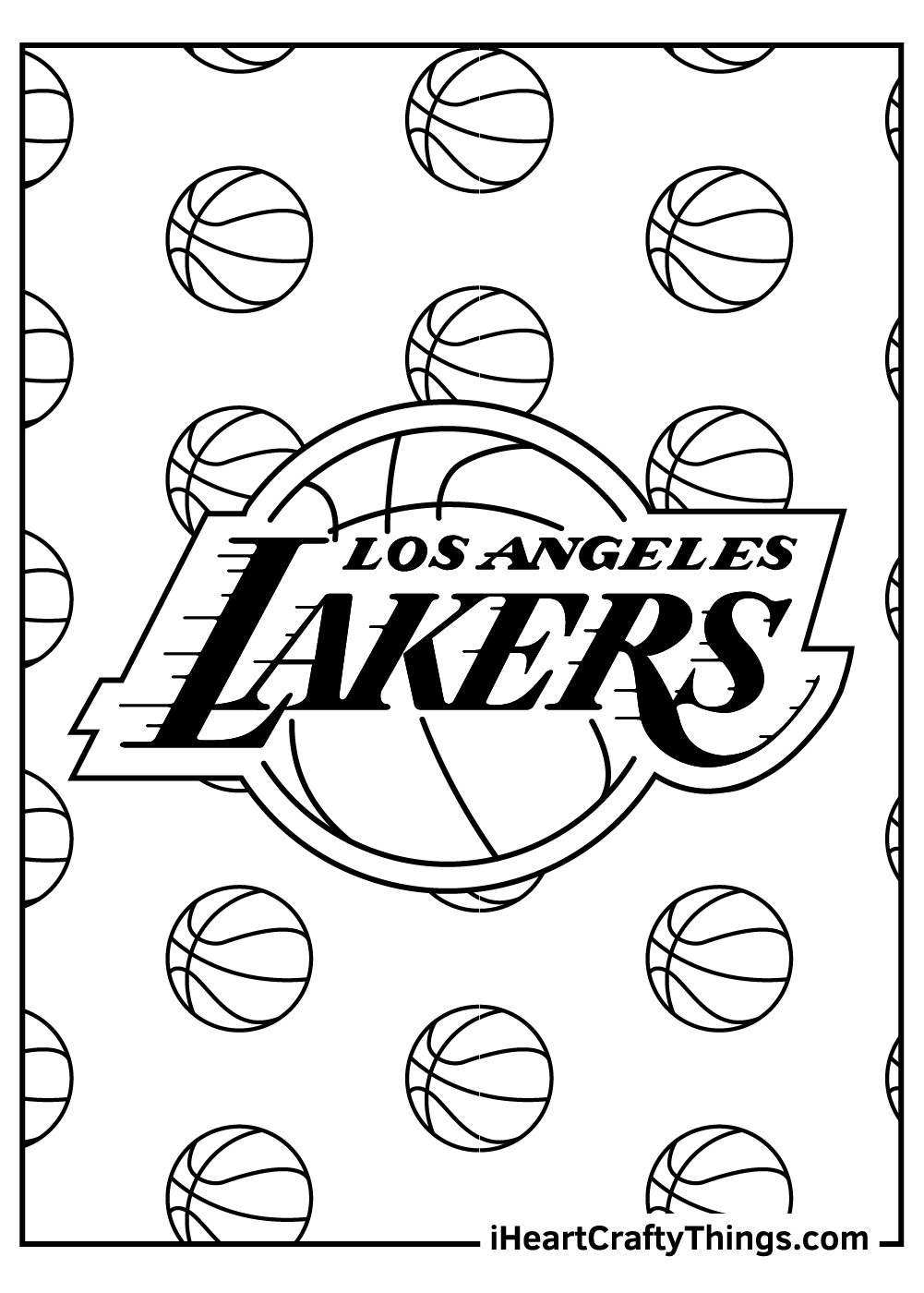 los angeles lakers NBA coloring pages free printable