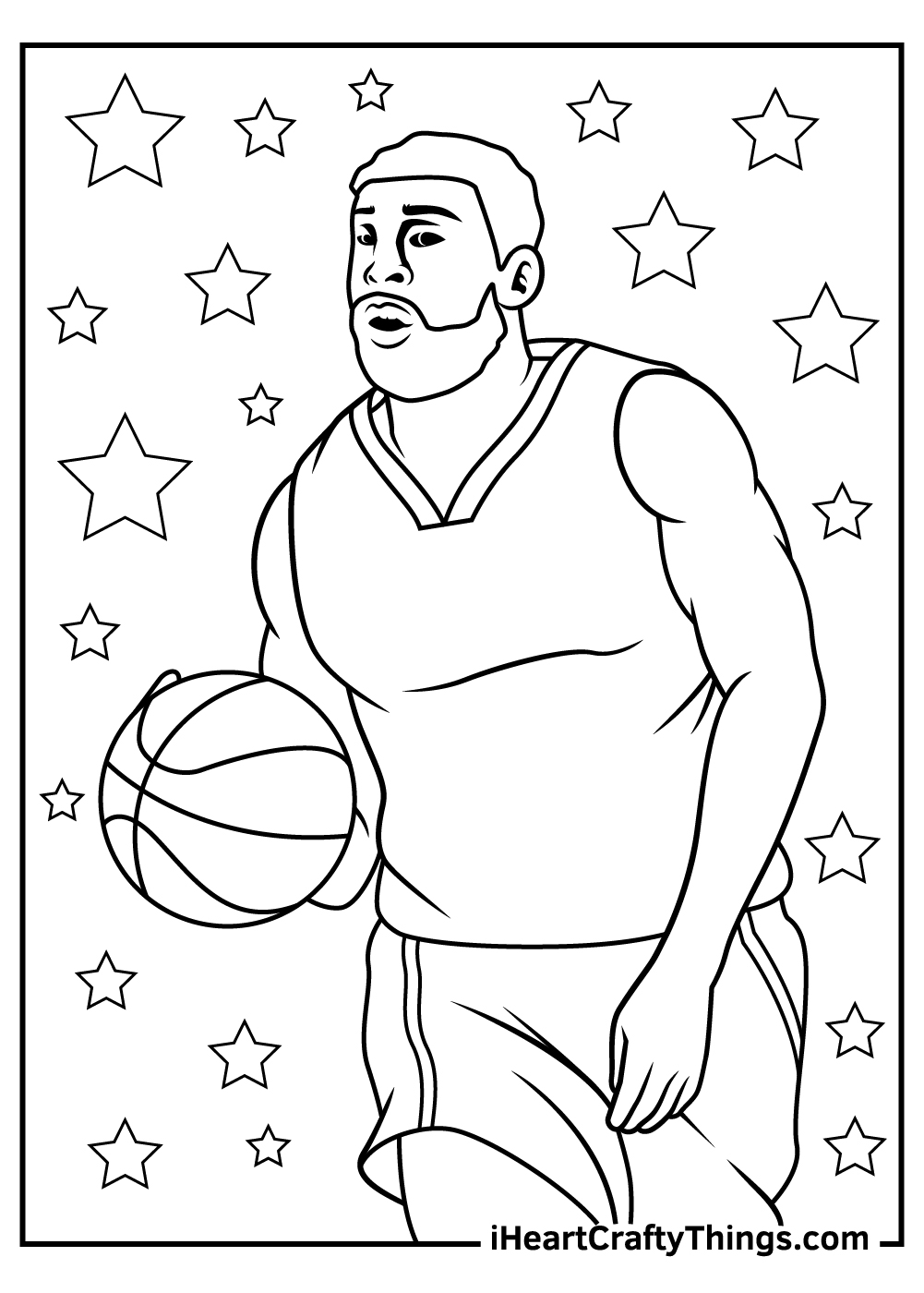 NBA coloring pages free pdf for kids