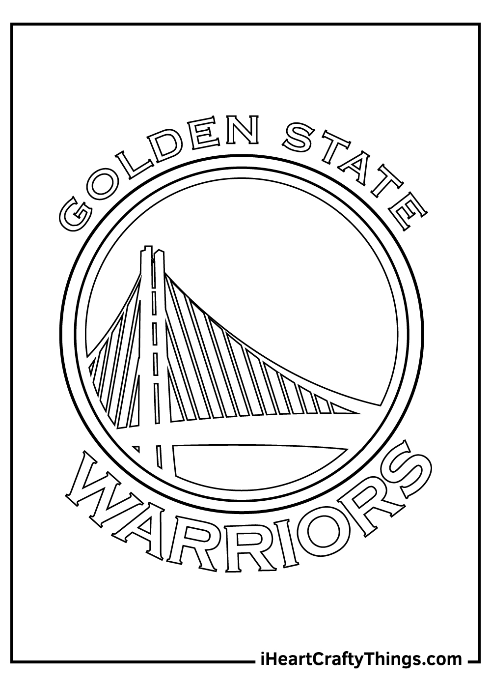 golden state NBA coloring pages free print out