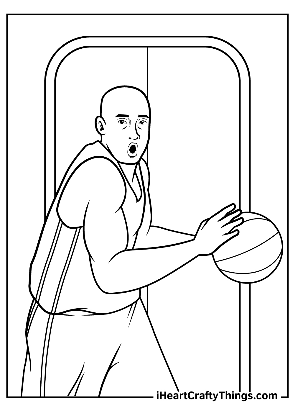 NBA coloring pages free printable for adults