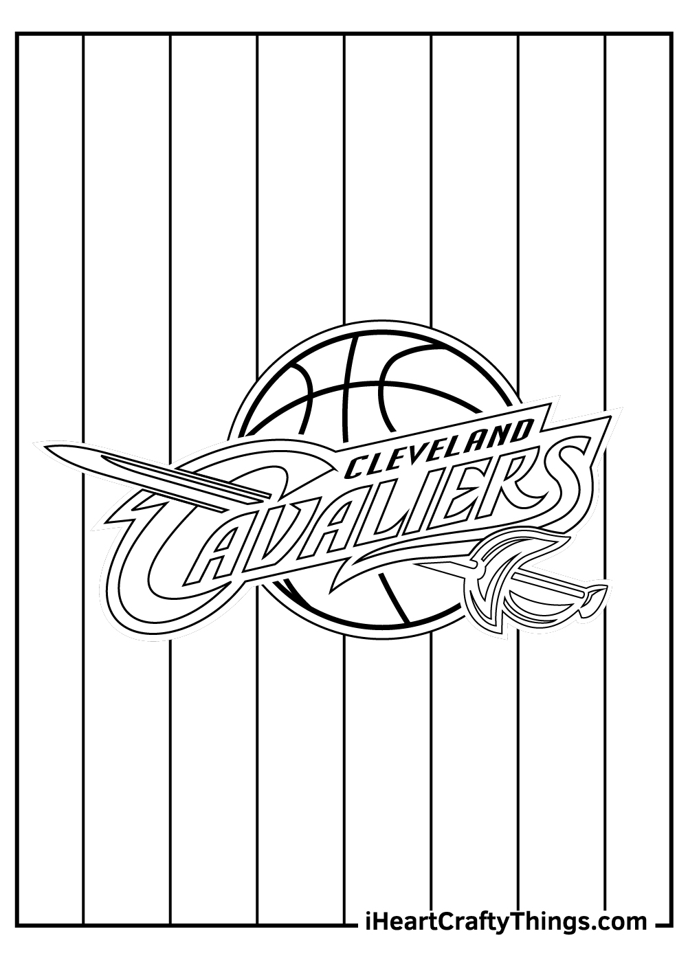cleveland cavaliers NBA coloring pages free printable