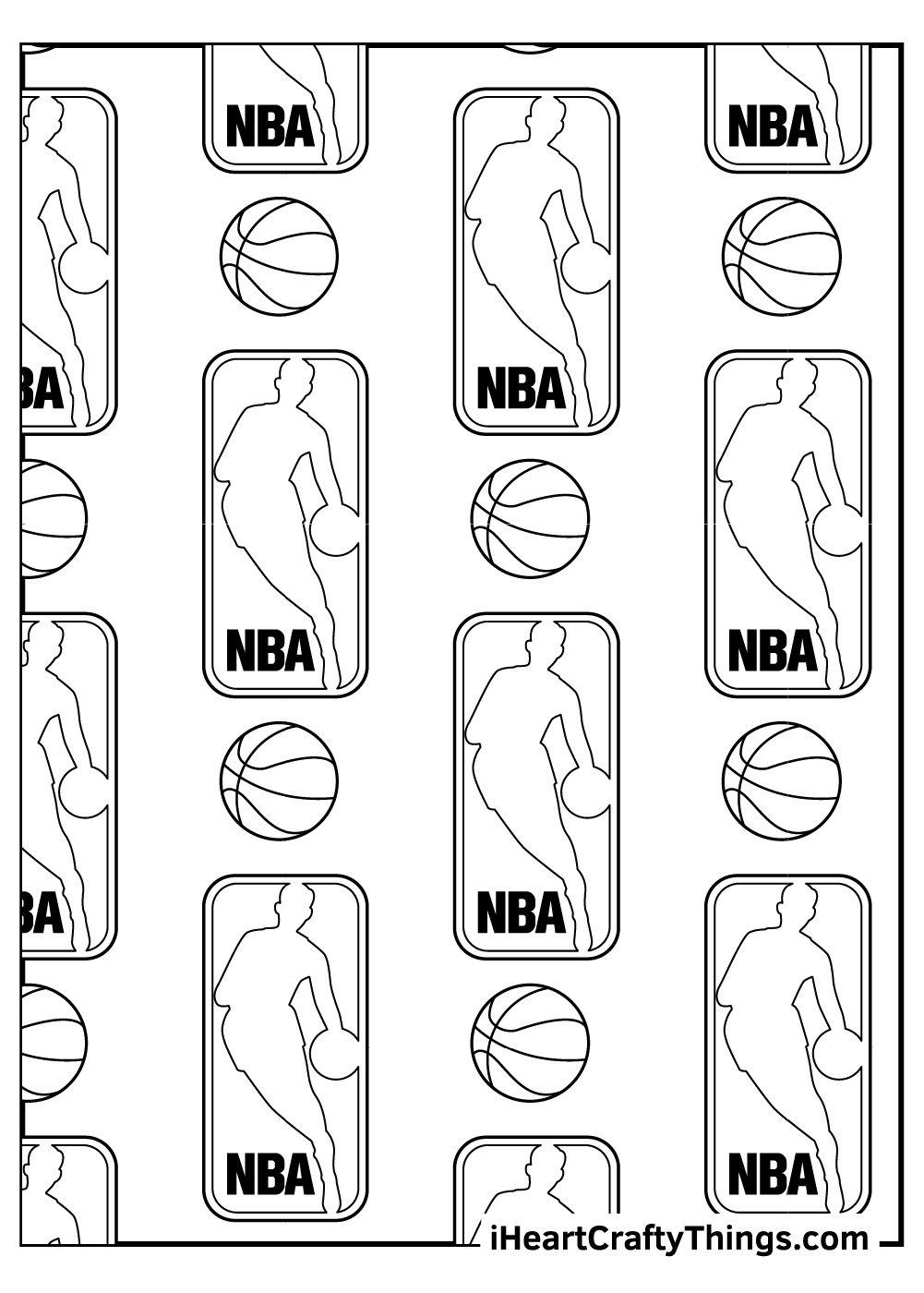 NBA logo coloring pages free download