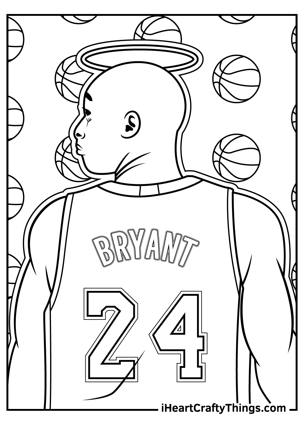 bryant NBA coloring pages free printable