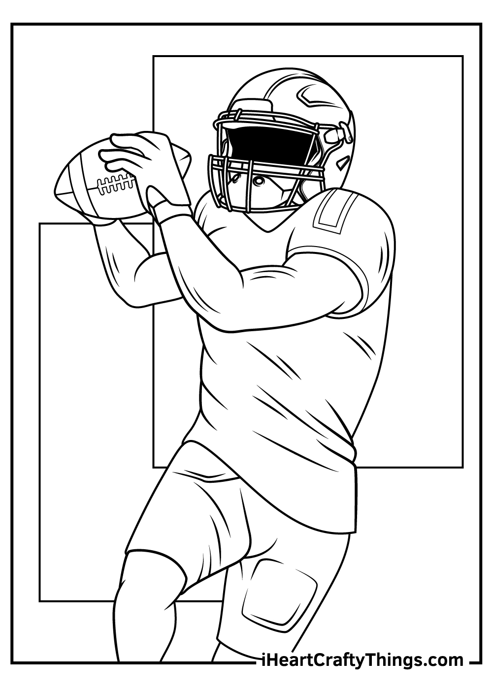 NFL coloring pages black and white printable pdf