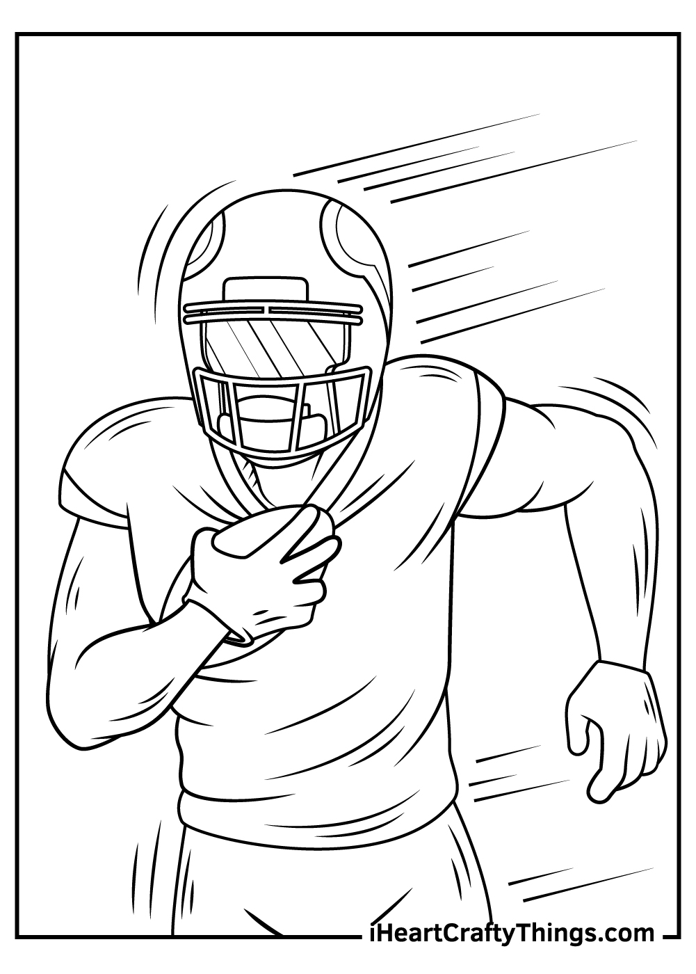 free NFL coloring pages for kids